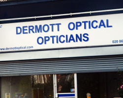 Shop Sign in Beckenham Dermott Optical