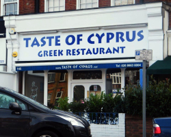 Shop Sign in Beckenham Taste of Cyprus