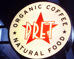 Projecting Sign in Croydon Pret